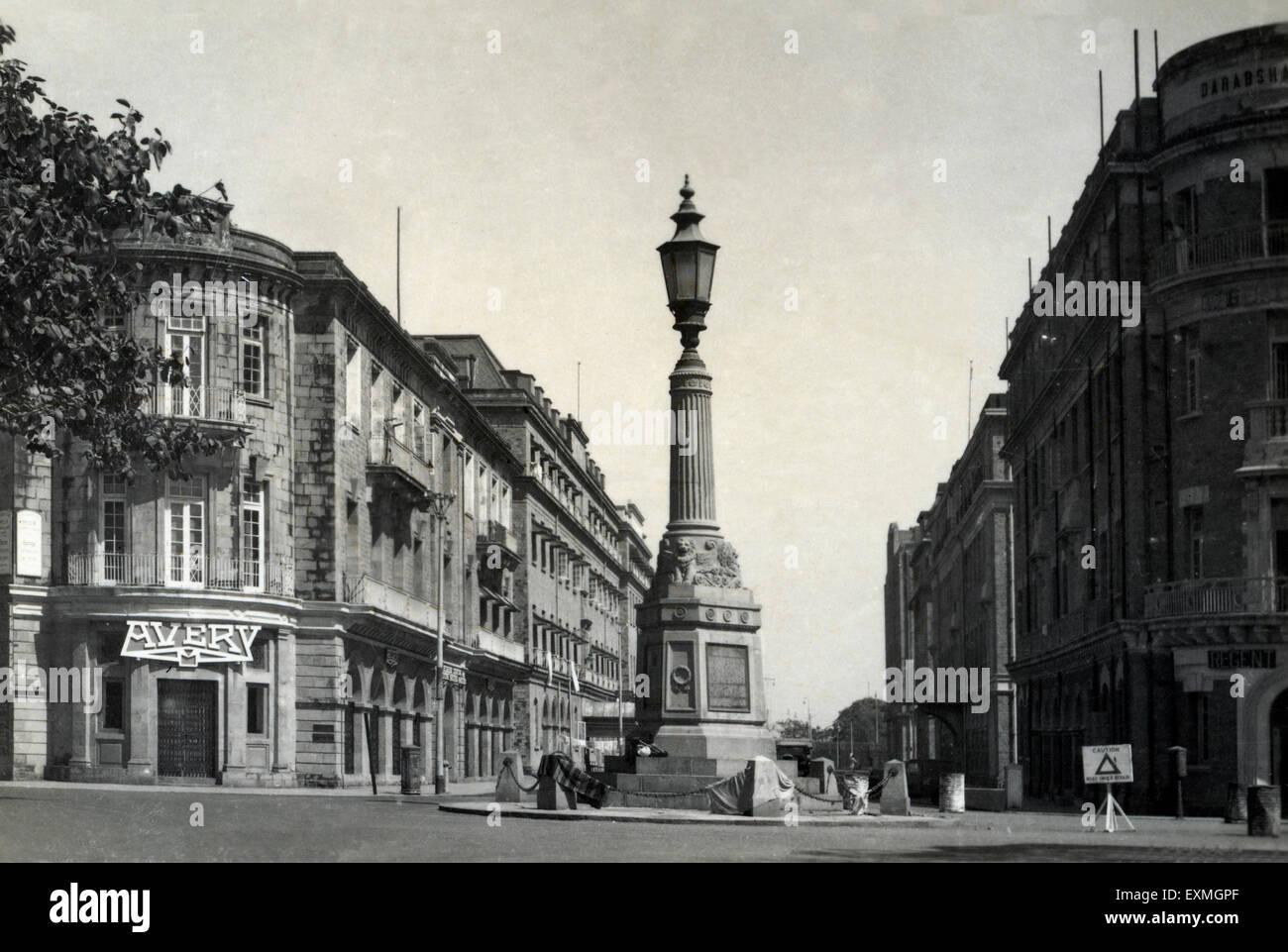 old vintage 1900s world war memorial , ballard estate , bombay stock