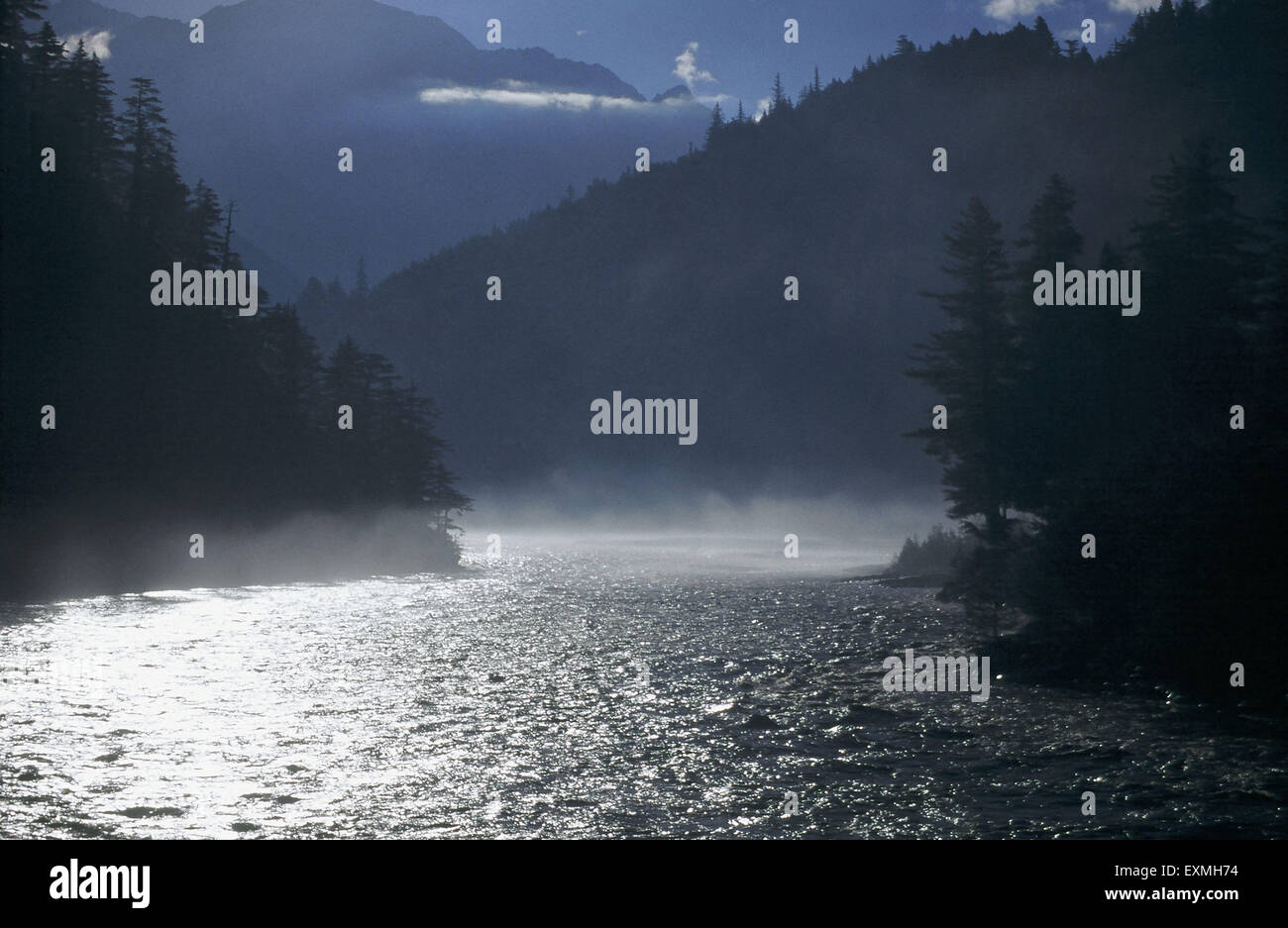 River water shining - Stock Image