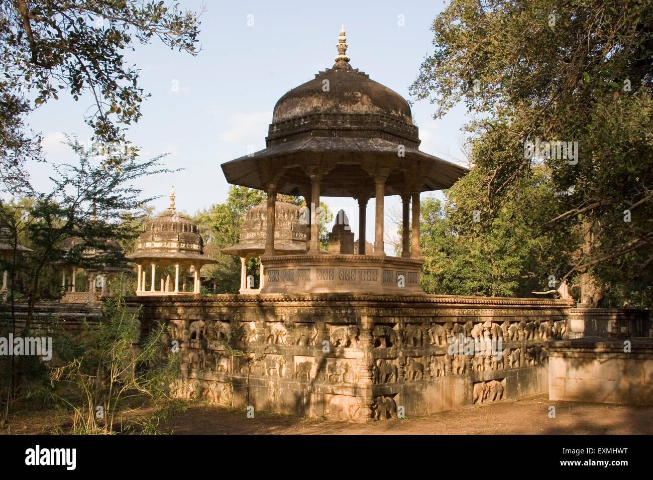 Kesar Bagh royal cremation ground ; Bundi ; Rajasthan ; India - Stock Image