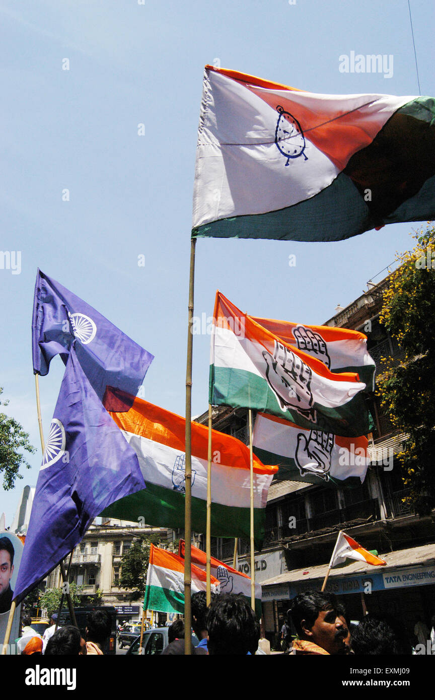 Milind Deora a Congress candidate campaigns for the 14th Lok Sabha general elections ; Bombay now Mumbai - Stock Image