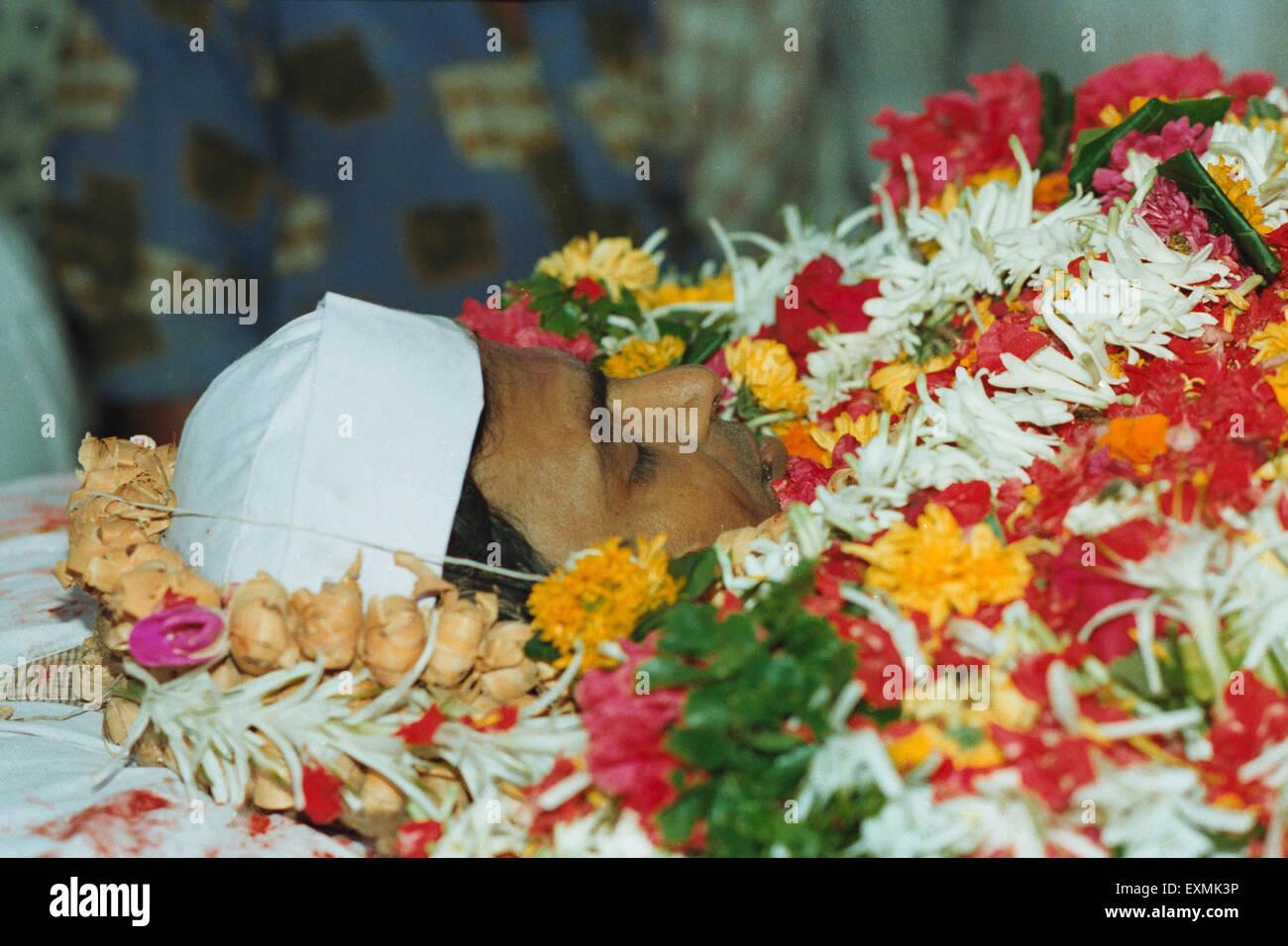 Funeral of Indian political leader Amar Naik - Stock Image
