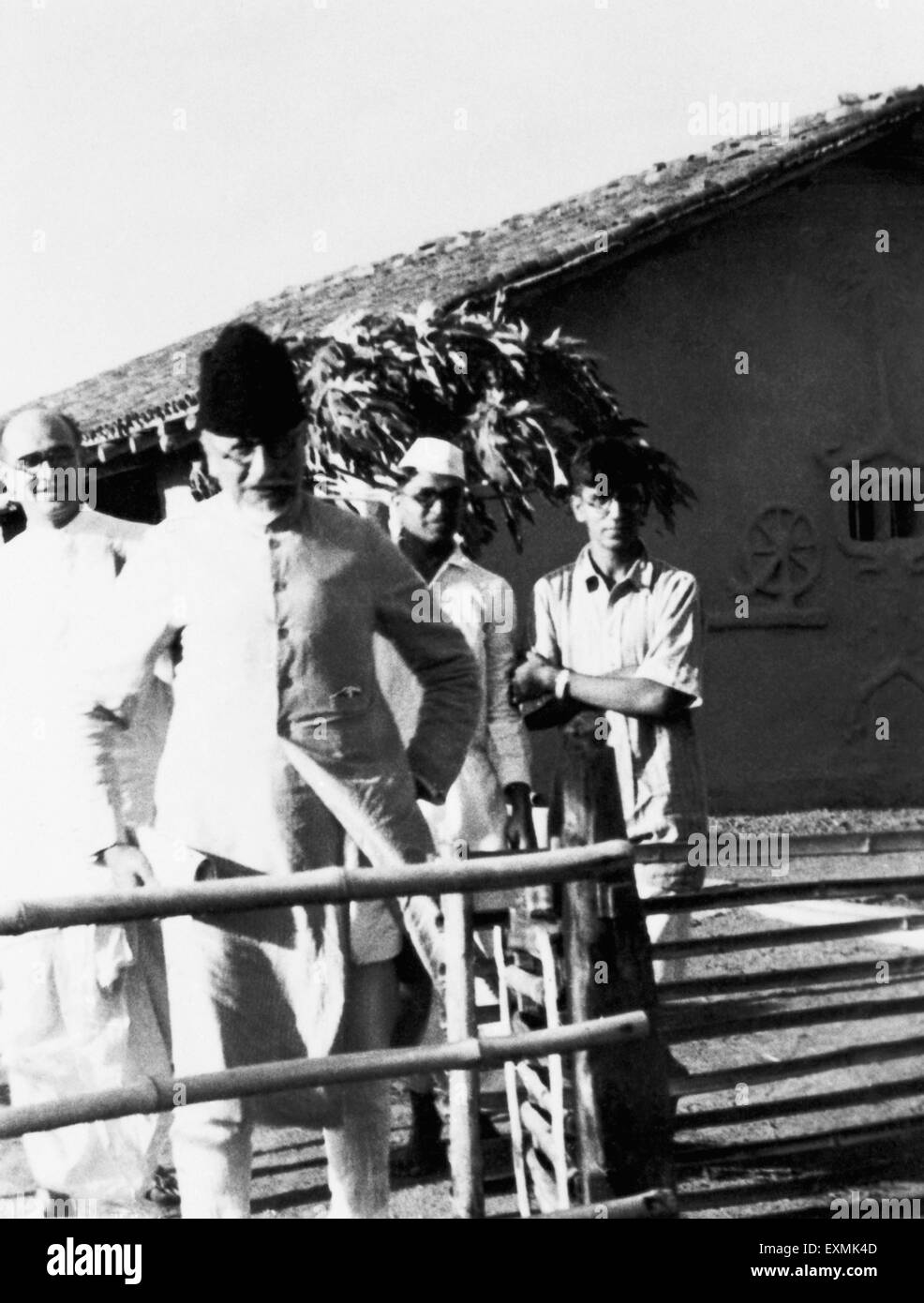 Mahadev desai abdul kalam maulana azad and others at sevagram ashram 1941 no mr