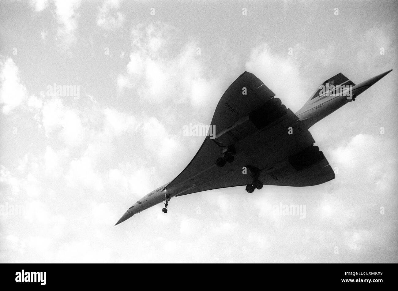 British Airways supersonic passenger aircraft Concorde lands at Sahar Airport Chatrapati Shivaji International Airport - Stock Image