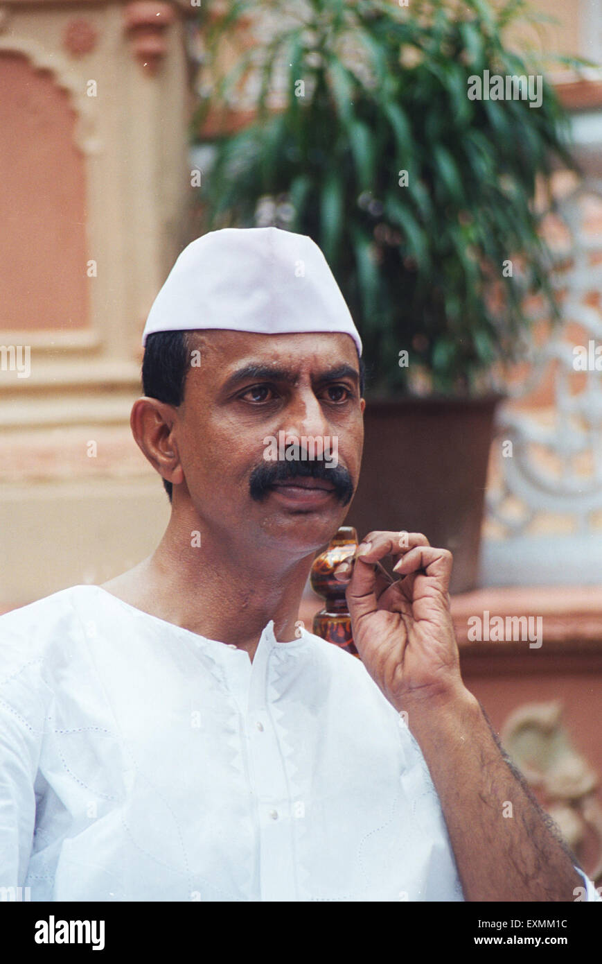 Arun Gawli Daddy gangster turned politician Akhil Bhartiya Sena mumbai india - Stock Image