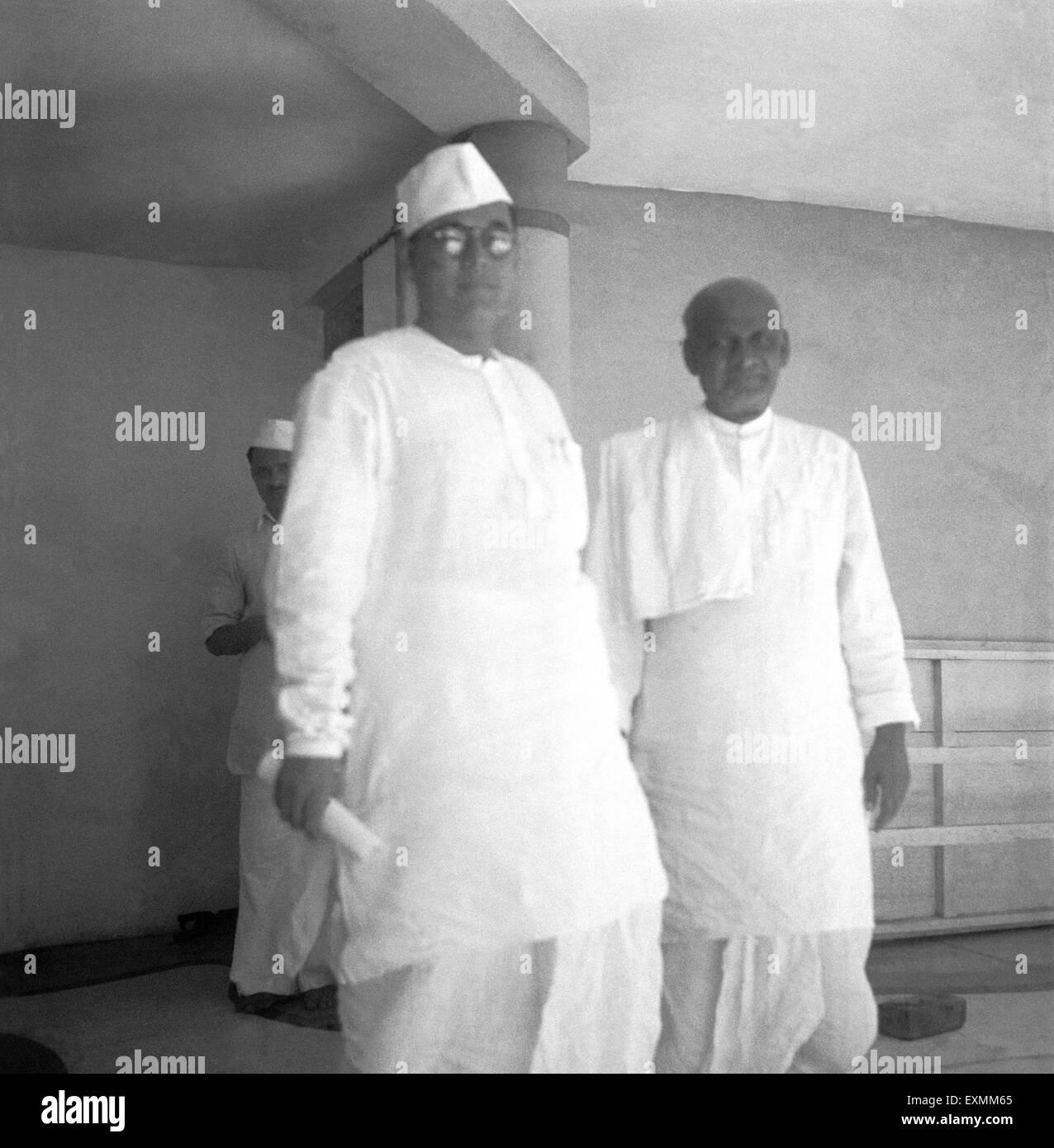 Subhash Chandra Bose and Sardar Vallabhbhai Patel at Juhu ; Mumbai ; 1940 NO MR - Stock Image