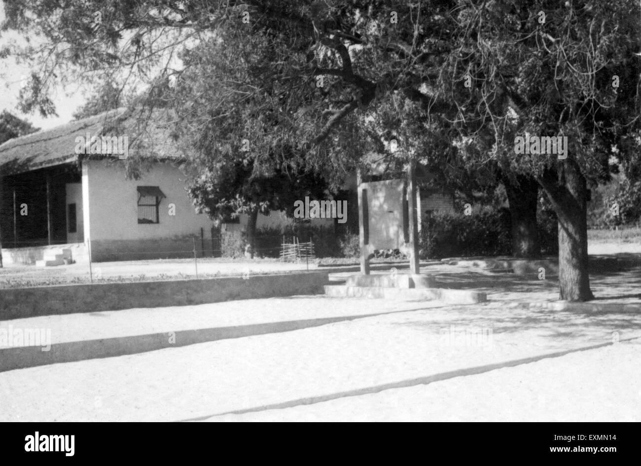 Hriday Kunj Mahatma Gandhi house Satyagraha Ashram Ahmedabad gujrat india 1960 - Stock Image