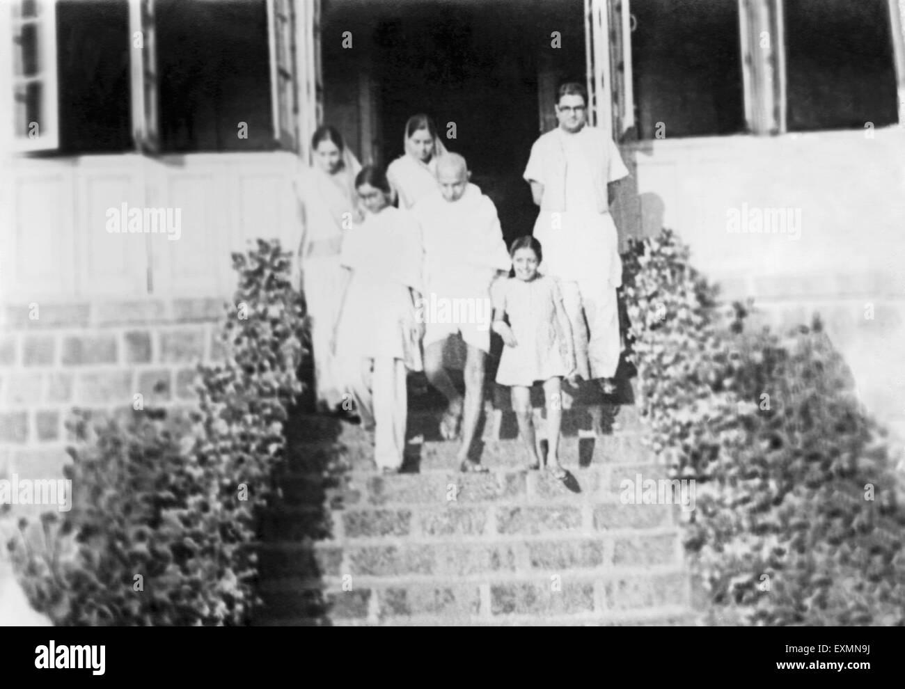 Mahatma Gandhi India 1940 - Stock Image