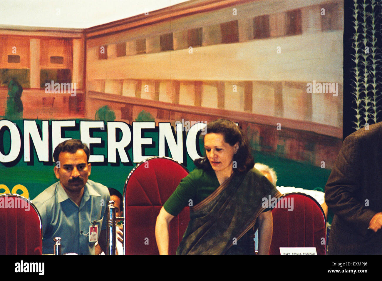 Sonia Gandhi the Indian National Congress Party - Stock Image