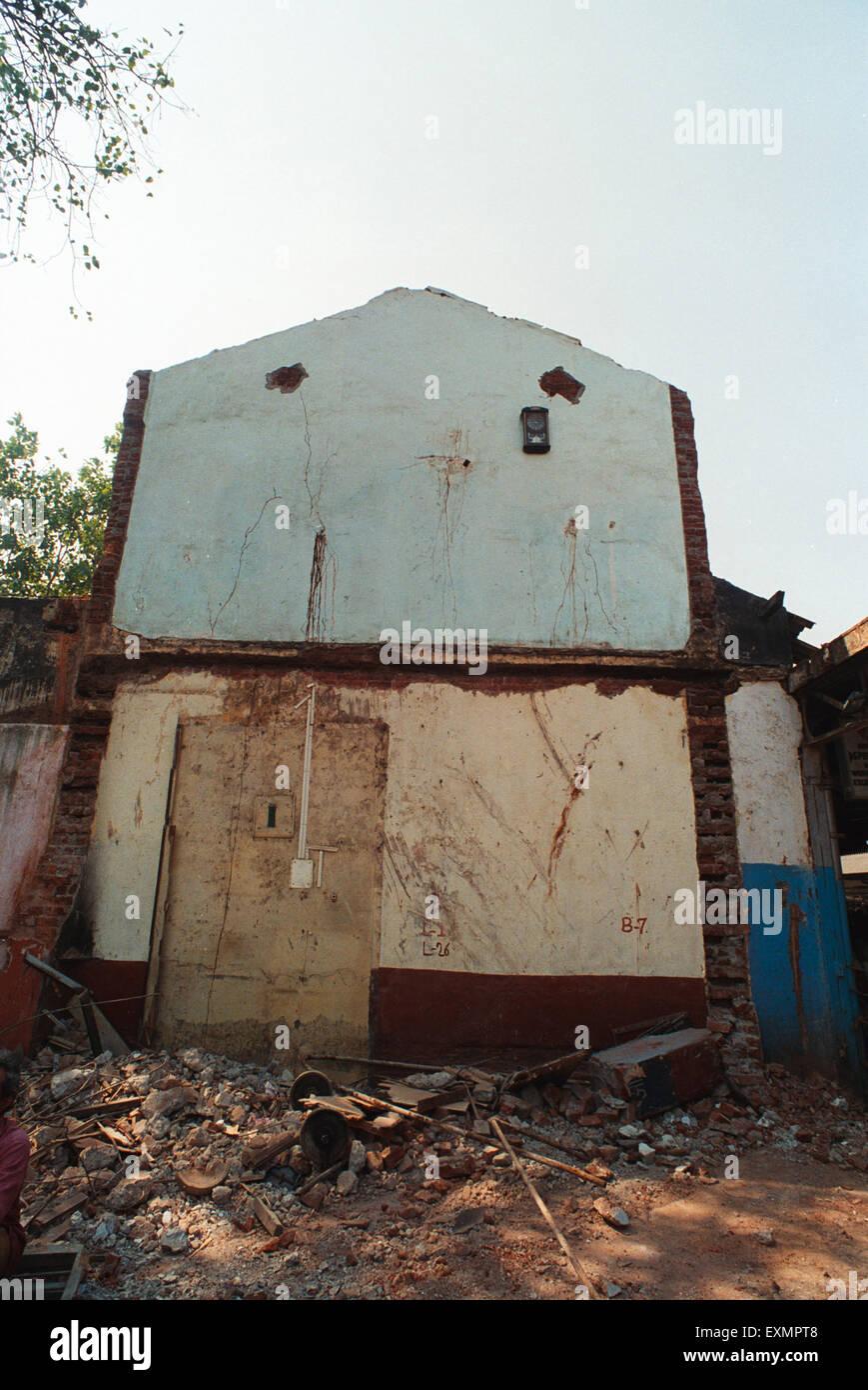 demolished house Dadar Bombay Mumbai Maharashtra India - Stock Image