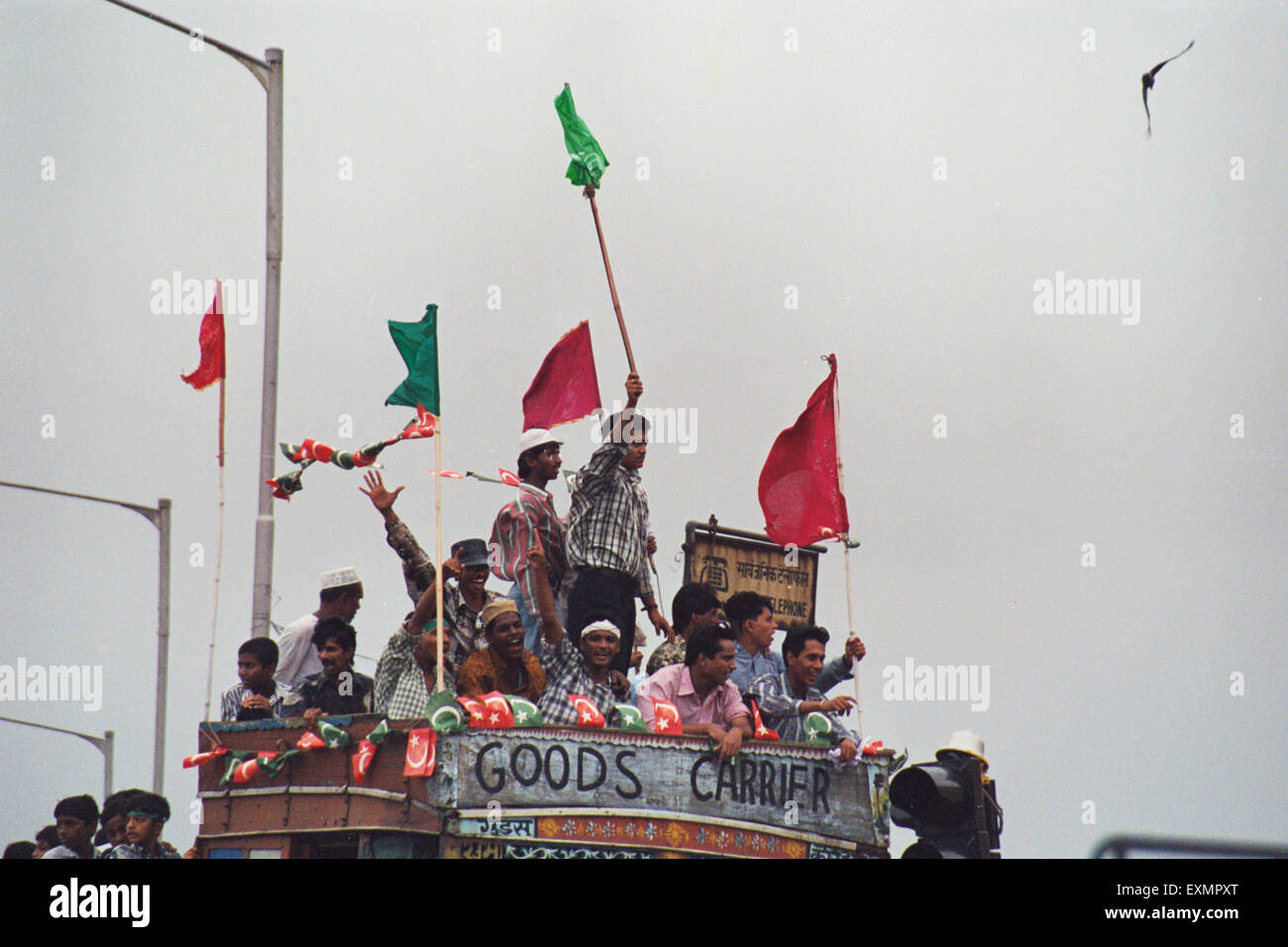 Demonstrators agitators strikers mumbai india - Stock Image