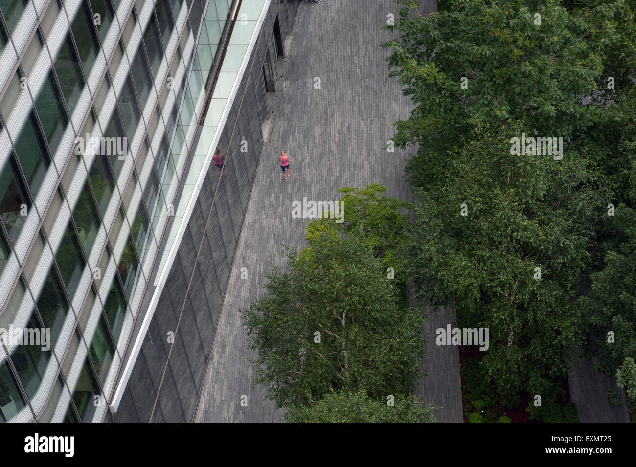 jogger in London aerial - Stock Image