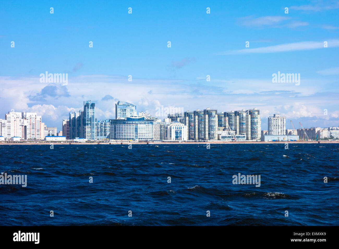 New seafront, Saint Petersburg, Russia - Stock Image