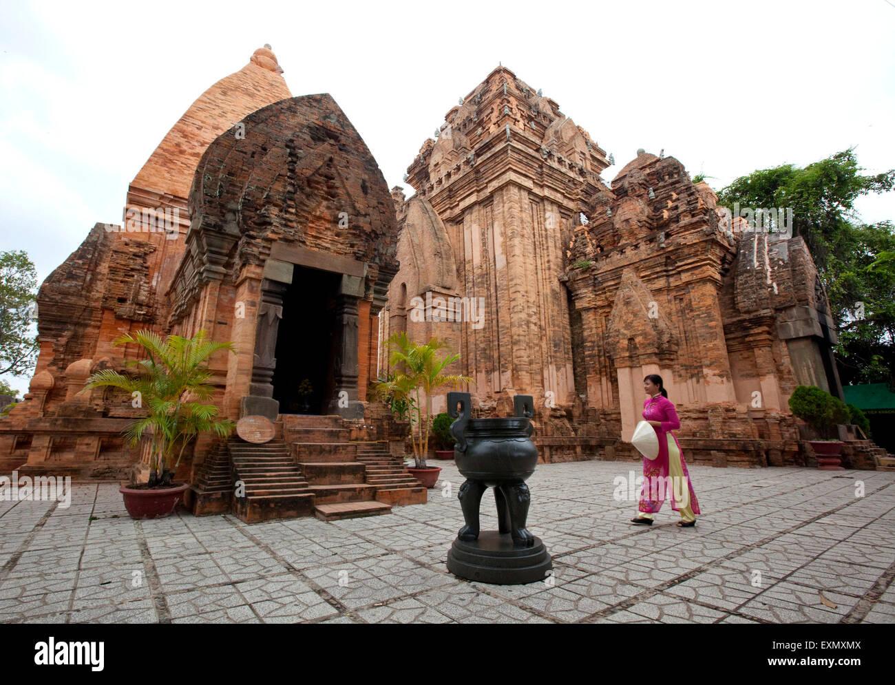 Cham towers Po Nagar, Nha Trang - Stock Image