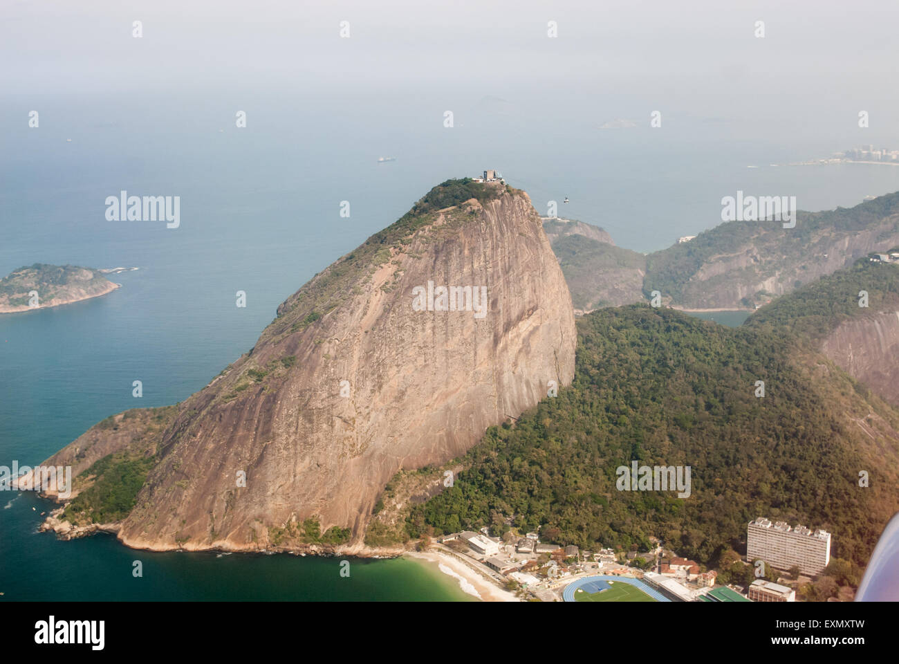 Rio de Janeiro, Brazil. Sugar loaf; aerial view from the north. - Stock Image