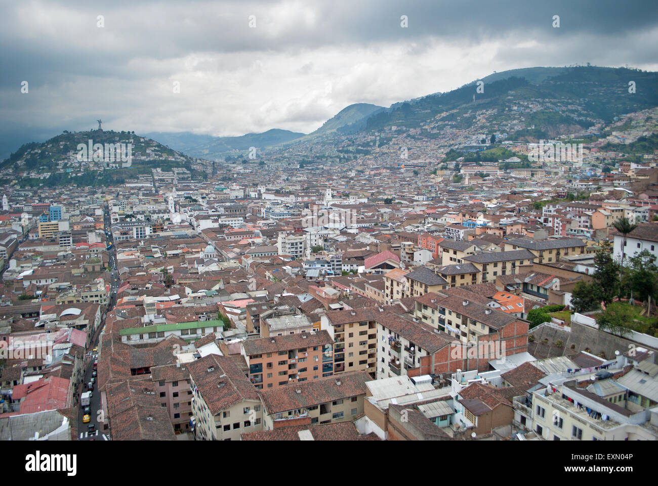 QUITO, ECUADOR - FEBRUARY 2, 2015: The outlook from Metropolitan Cathedral - Stock Image