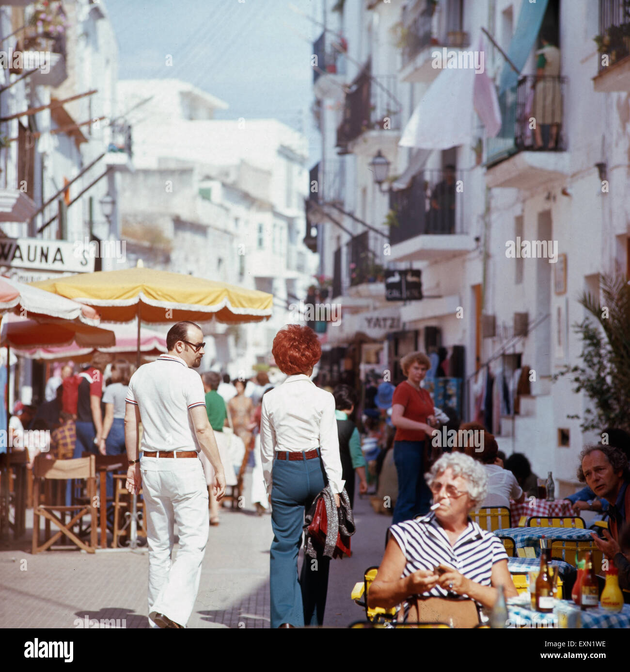 sommerurlaub in ibiza stadt ibiza 1976 summer vacation in the city stock photo 85285018 alamy. Black Bedroom Furniture Sets. Home Design Ideas