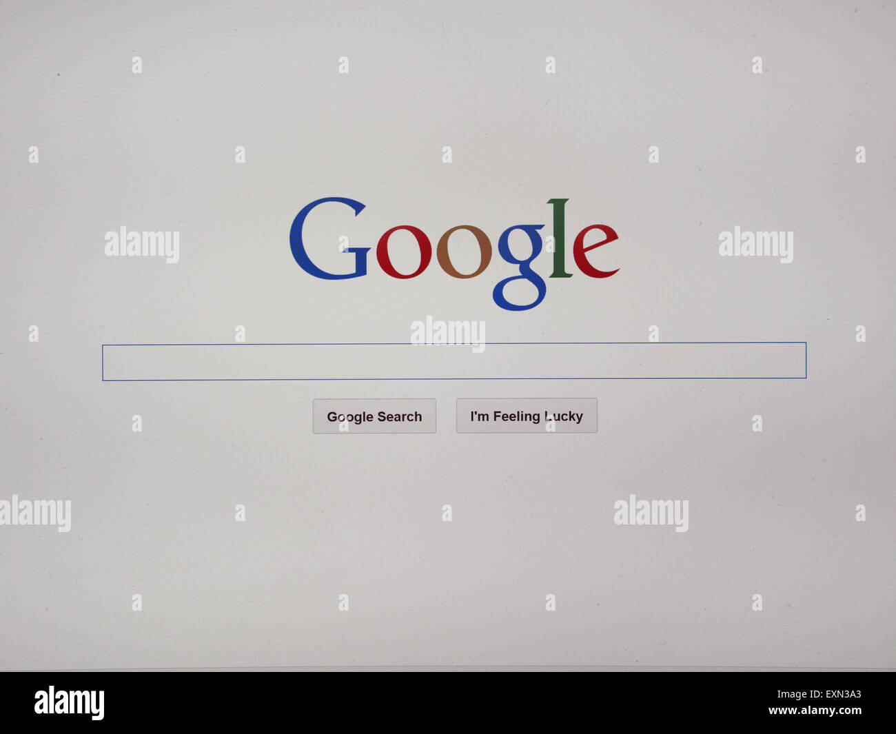 Google internet search engine home page - Stock Image