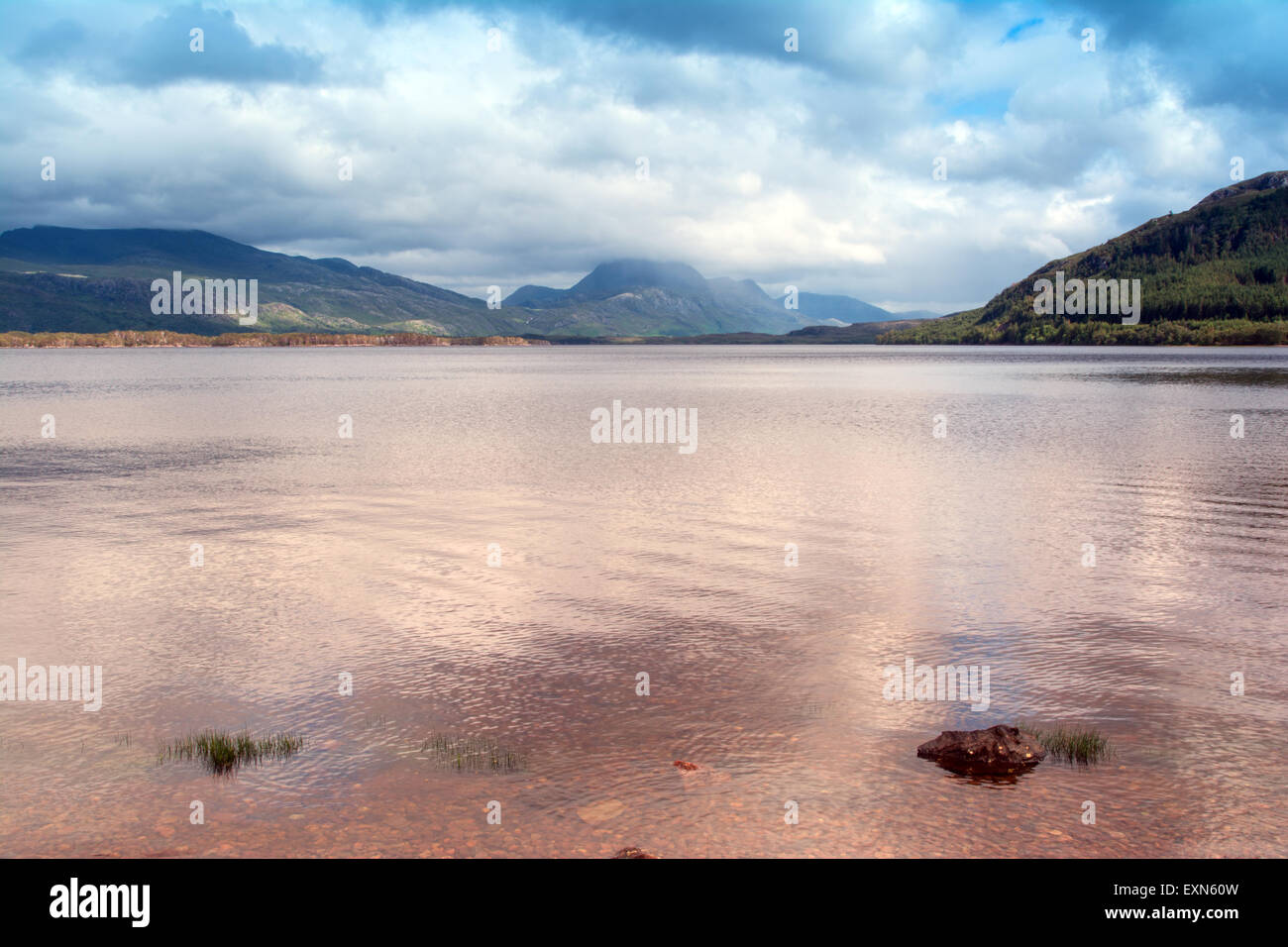 Loch Maree and Slioch - Stock Image