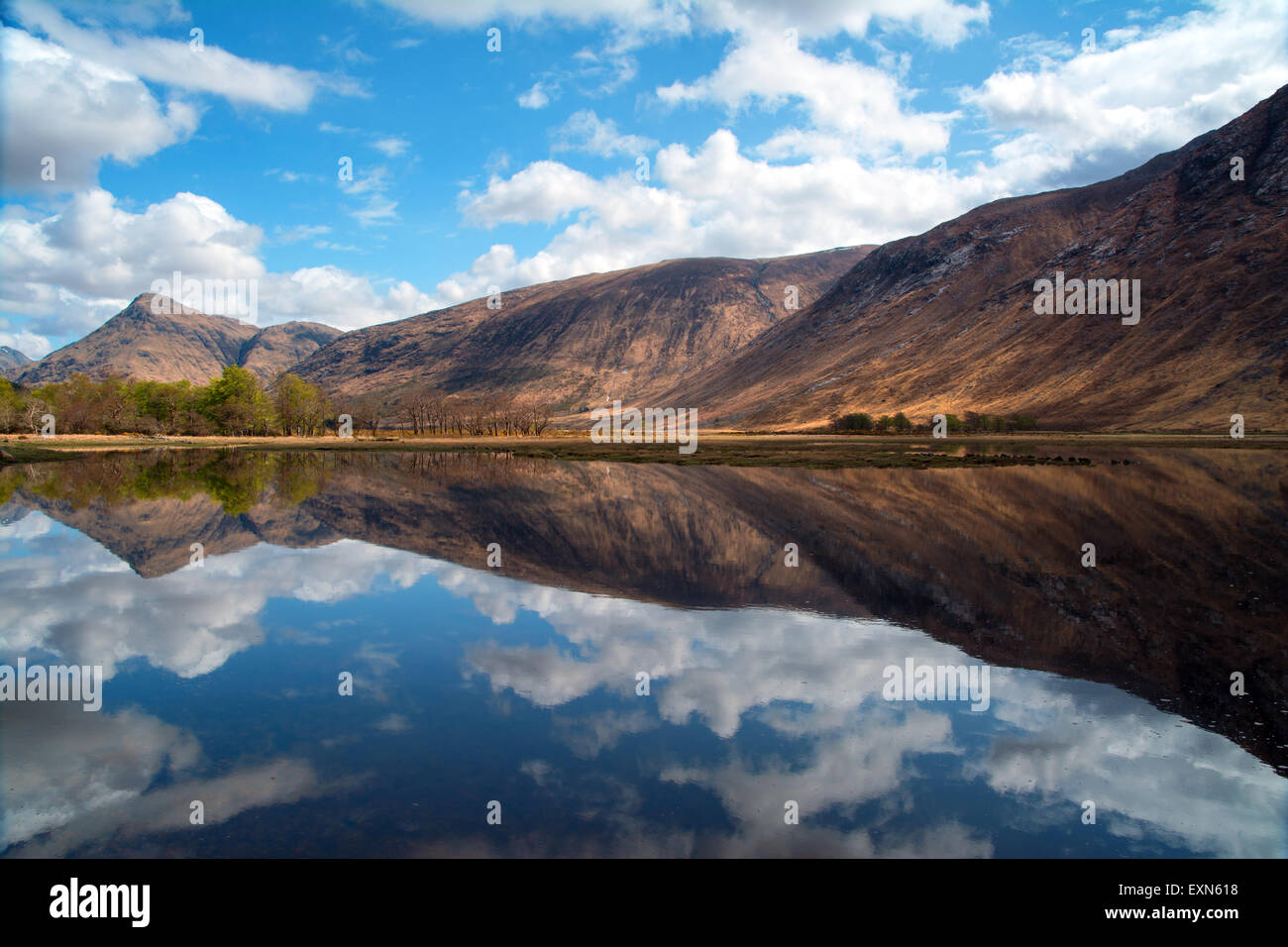 Reflections on Loch Etive,Scotland Stock Photo