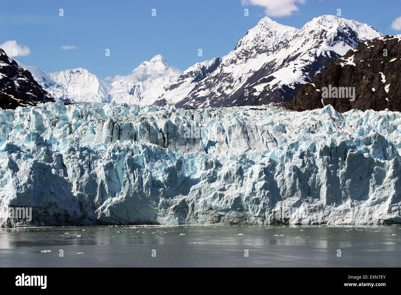 Close up of Glacier in Glacier Bay, Alaska - Stock Image