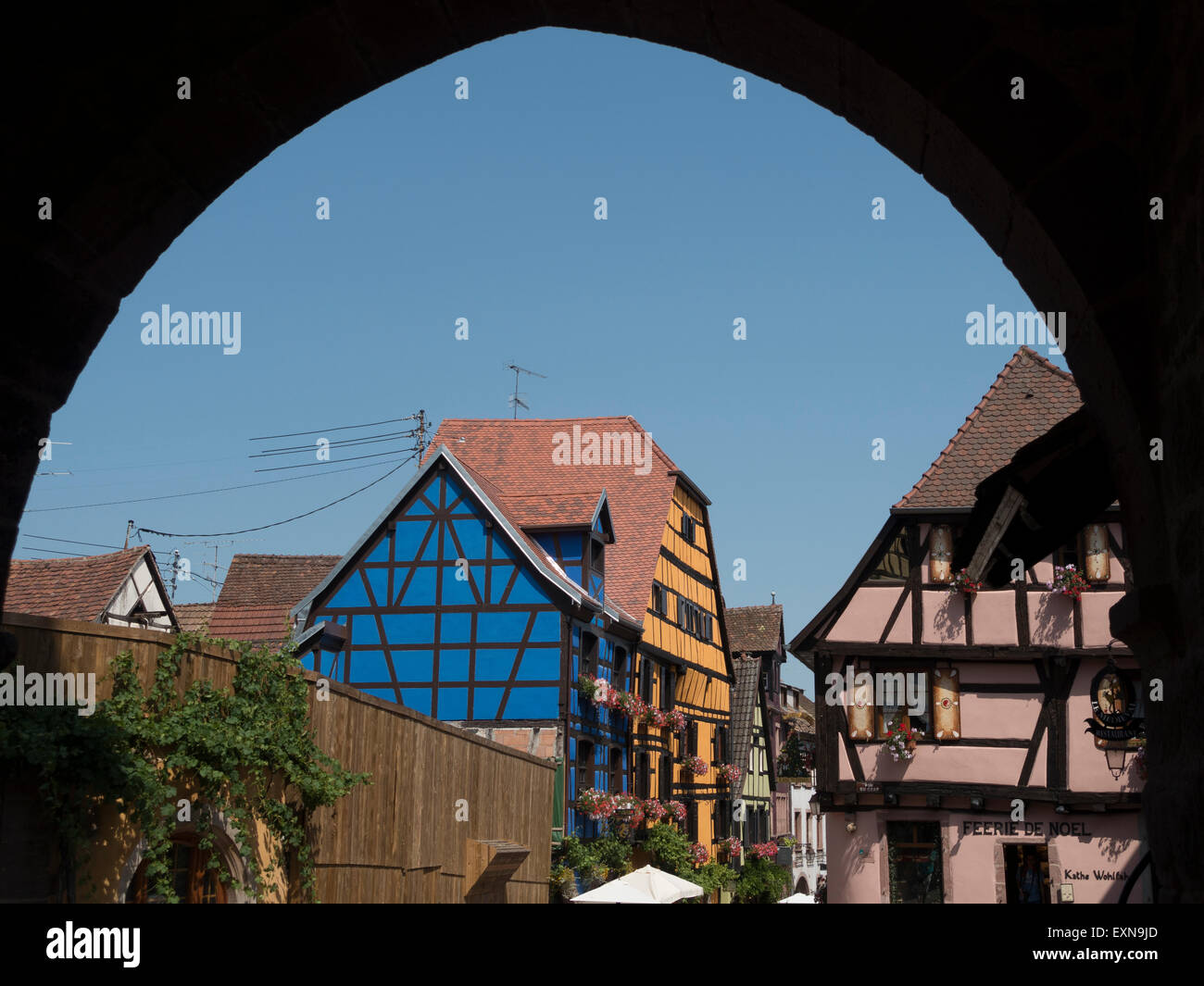 Riquewihr Medieval Town, Alsace, France -2 Stock Photo