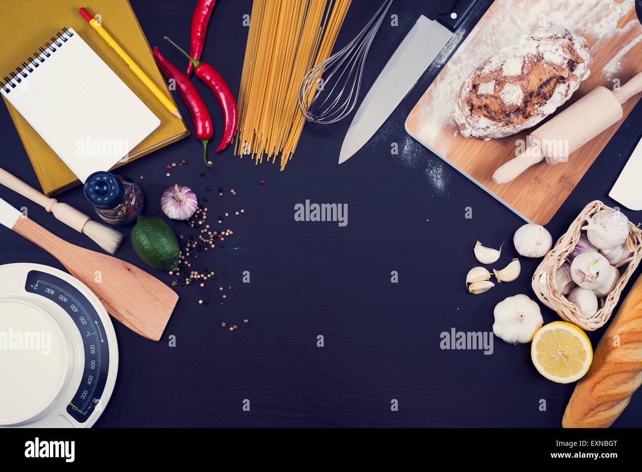 Food Hero header for kitchen or restaurant. - Stock Image