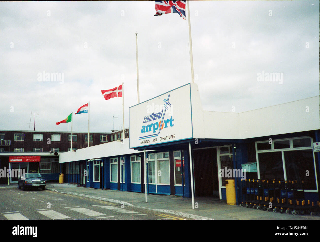 Southend Airport Terminal Entrance 1990 - Stock Image