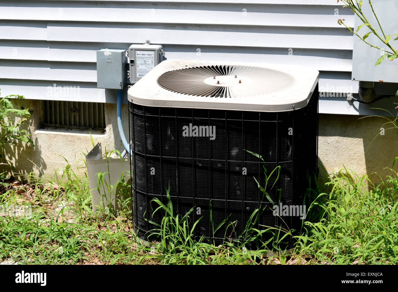 Central air conditioning unit - Stock Image