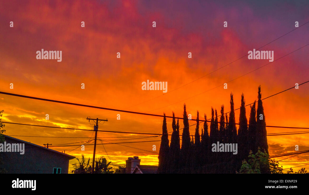 sunset in so cal - Stock Image