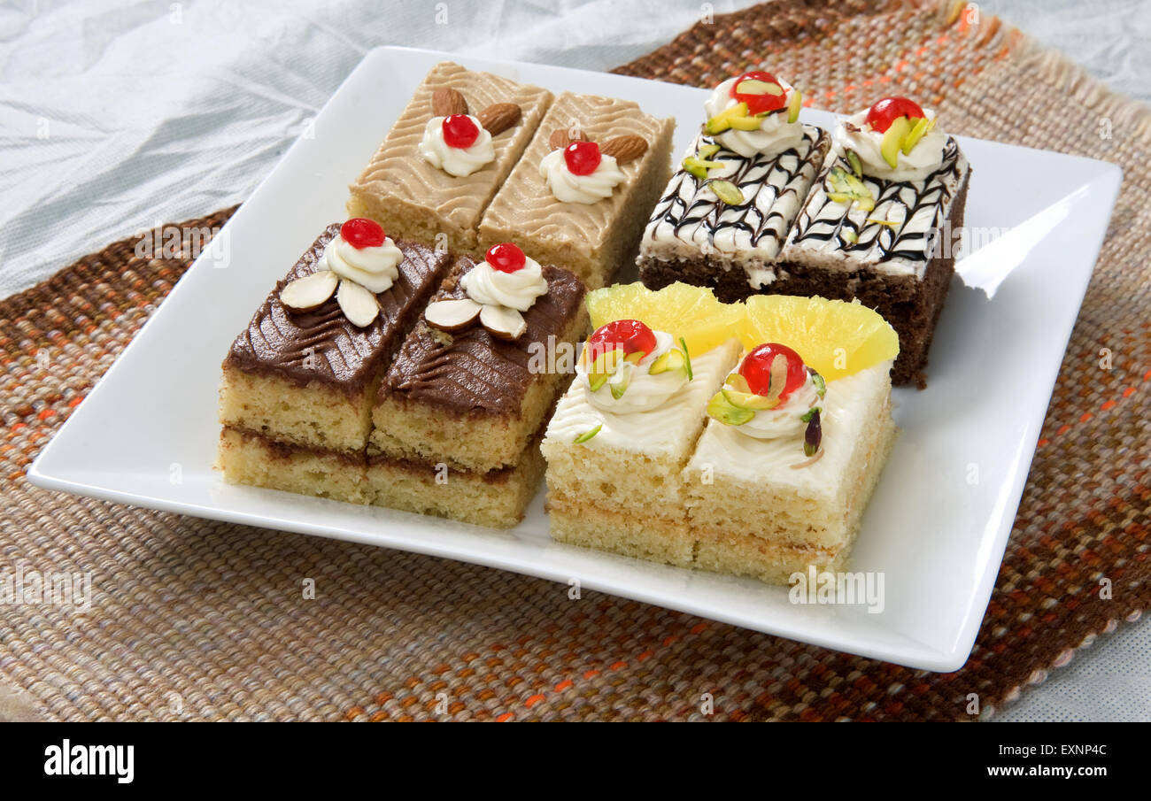 Cake Pieces / Pastries - Stock Image