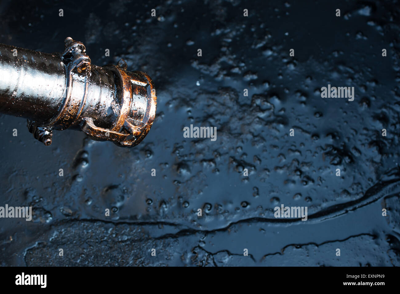 crude oil from oil well - Stock Image