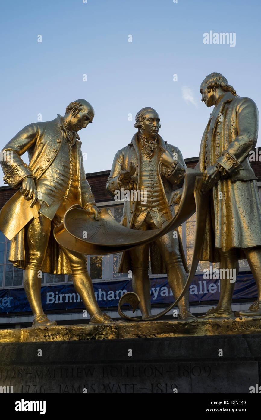 Statues of engineers in Birmingham,England - Stock Image