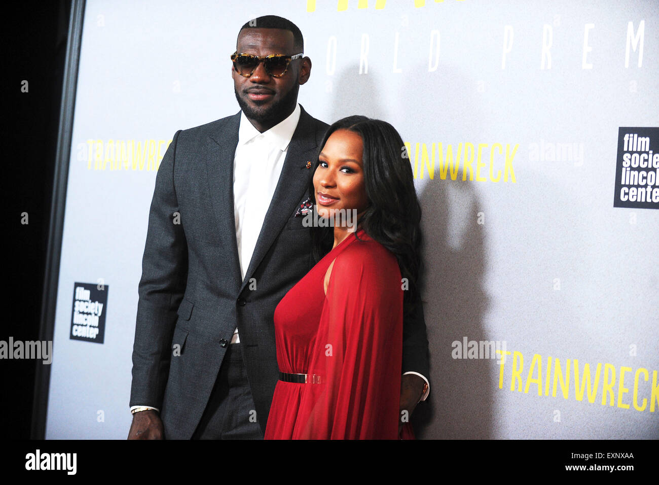 9f1deef145e4 LeBron James and Savannah Brinson attending the  Trainwreck  premiere at  Alice Tully Hall on July 14