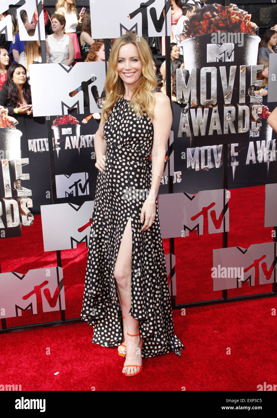Leslie Mann at the 2014 MTV Movie Awards held at the Nokia Theatre L.A. Live in Los Angeles on April 13, 2014 in - Stock Image