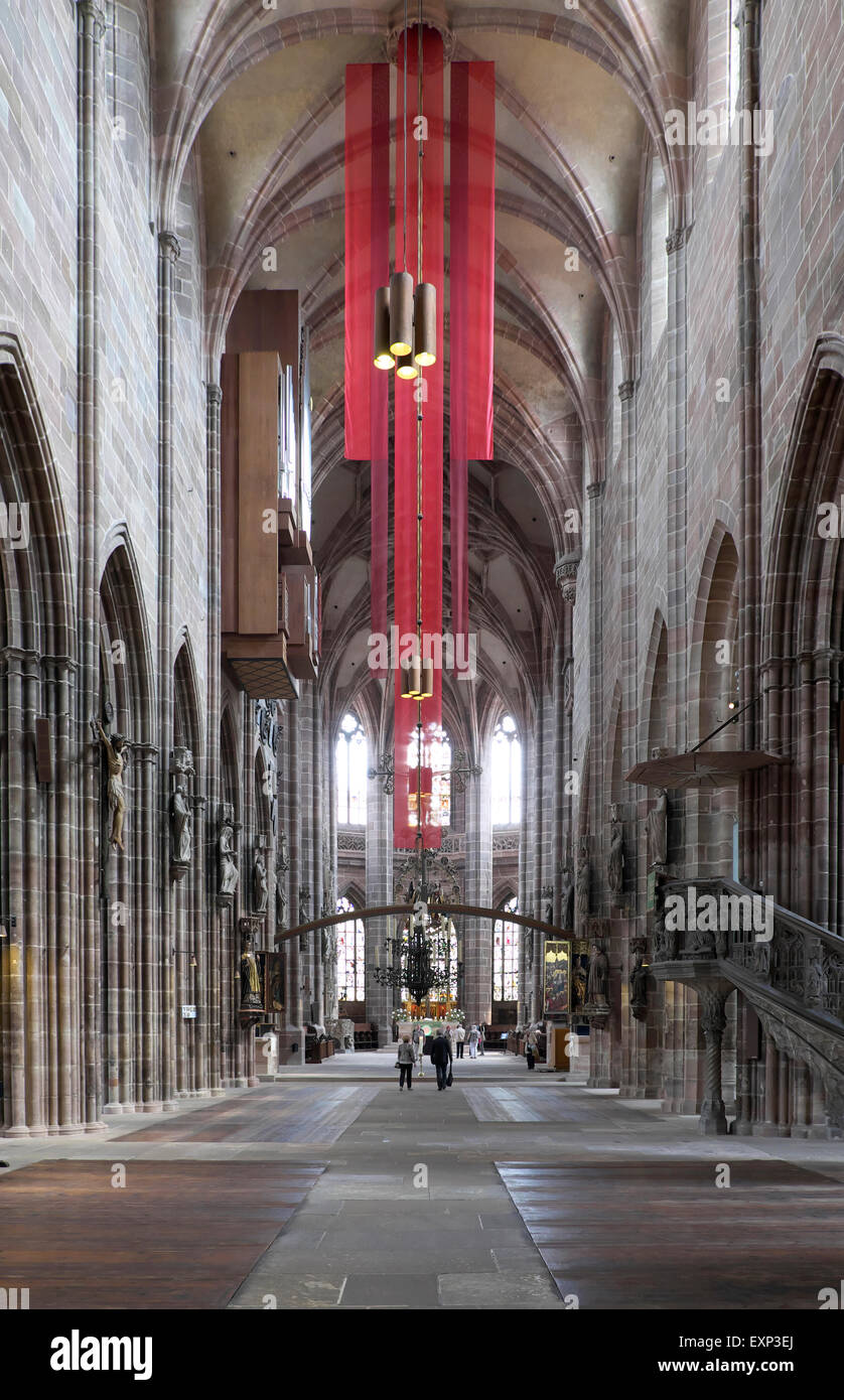 Lorenzkirche, St. Lawrence Church, Nuremberg, Middle Franconia, Bavaria, Germany - Stock Image