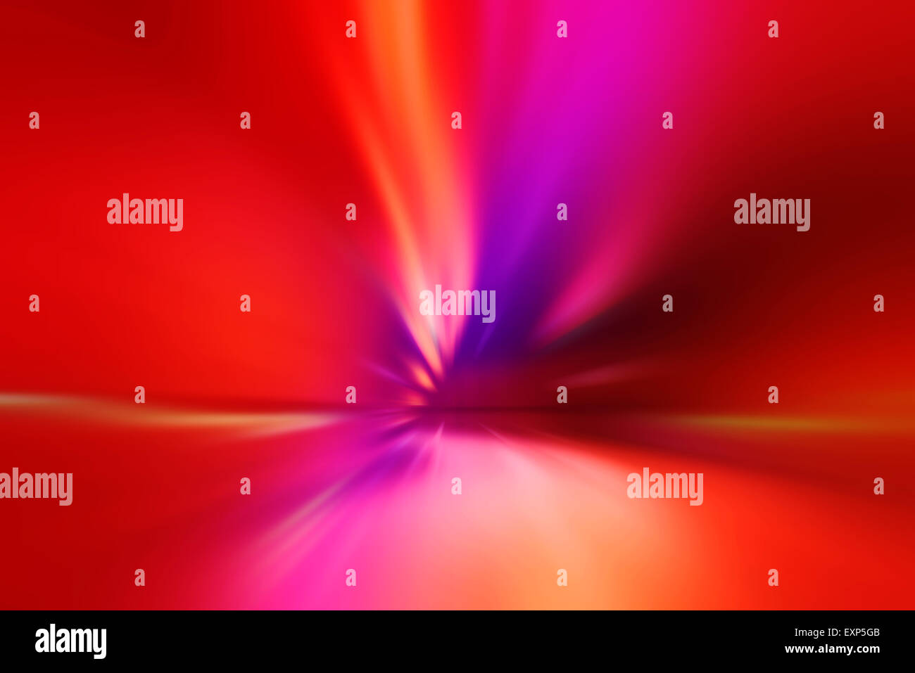 Abstract Blur Car Traffic Tunnel with Light Trails as Background - Stock Image