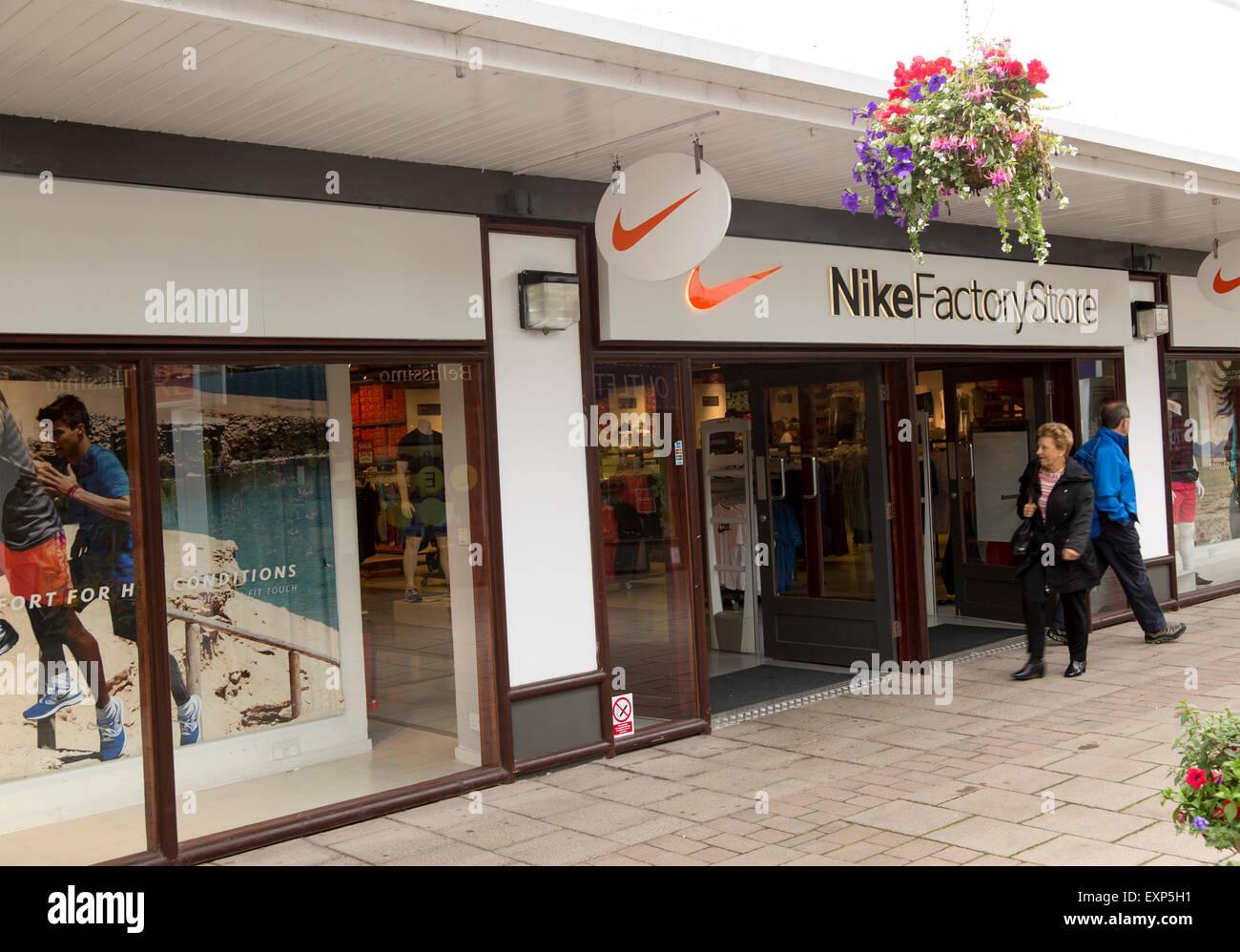 Nike Factory Store, Festival Park shopping centre, Ebbw Vale, Blaenau  Gwent, South Wales, UK