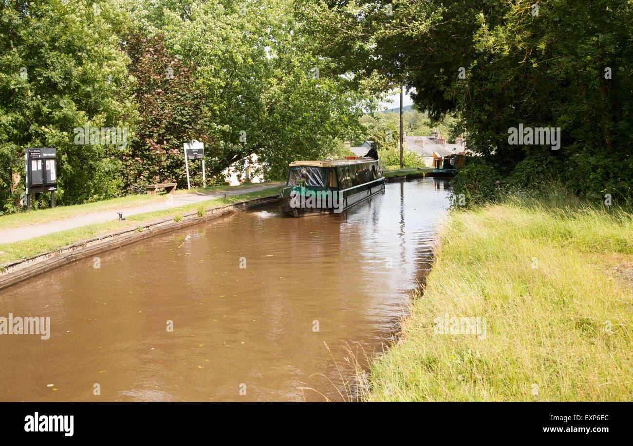 Brecon and Monmouthshire Canal, Talybont-on-Usk, Powys, Wales, UK - Stock Image