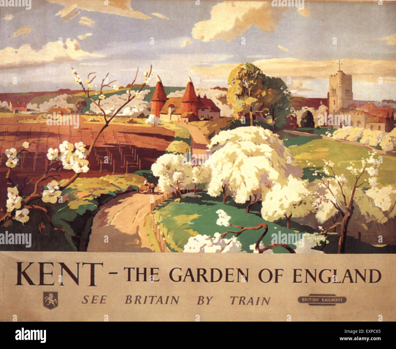 1930s UK Kent Poster - Stock Image