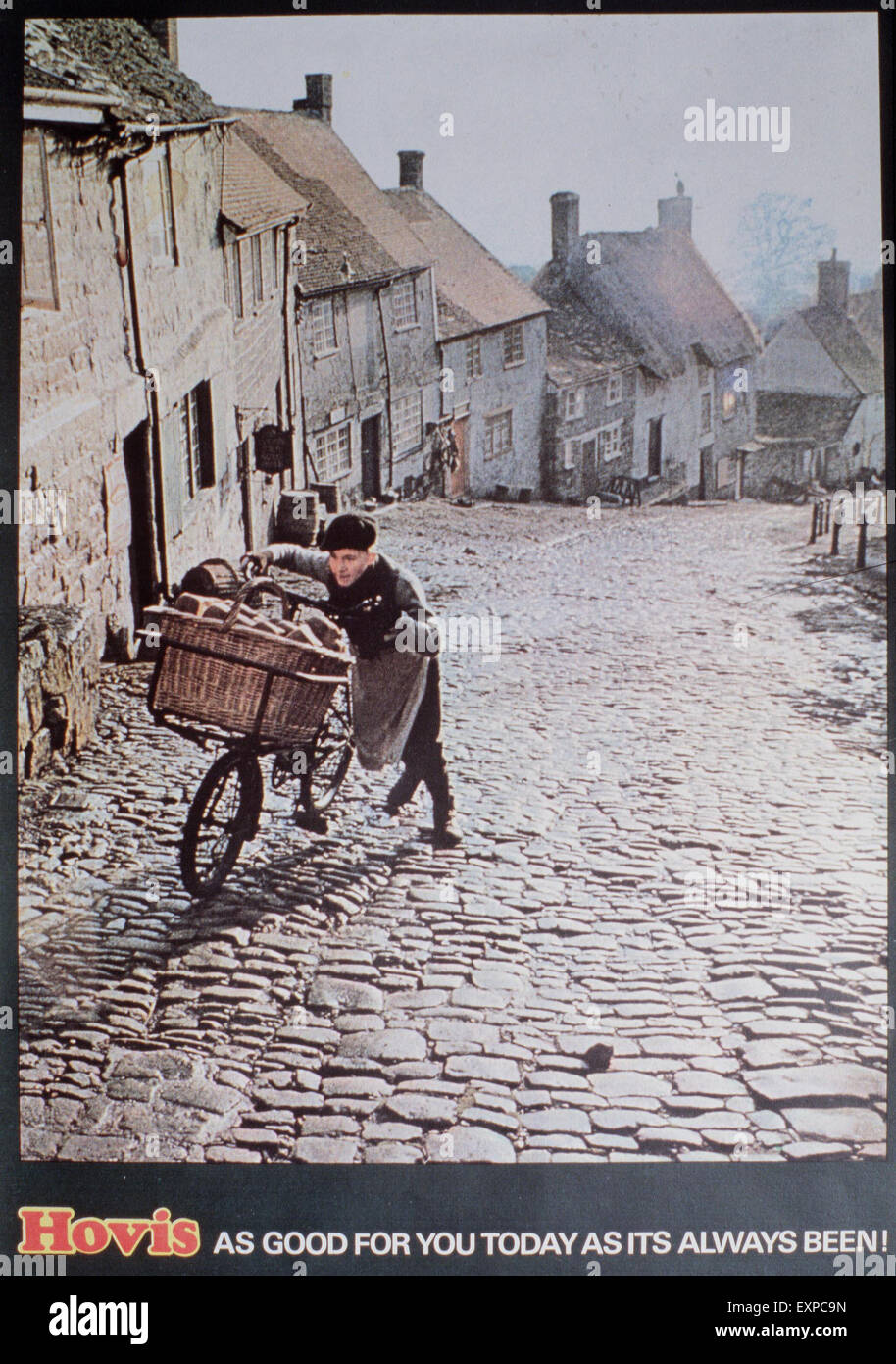 1970s UK Hovis Magazine Advert - Stock Image