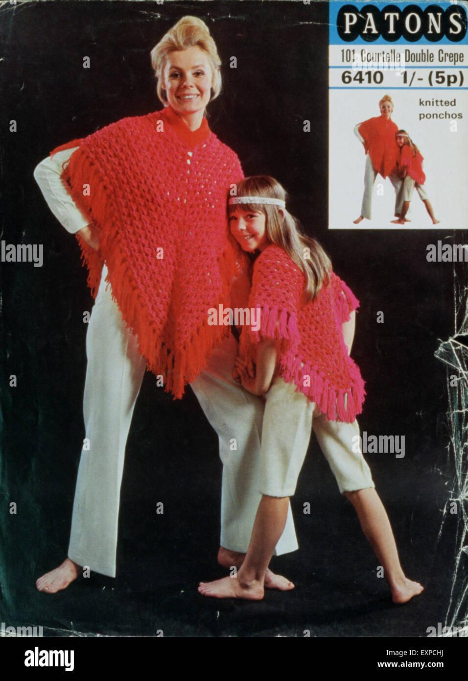 1960s UK Patons Knitting Patterns Stock Photo: 85315374 - Alamy