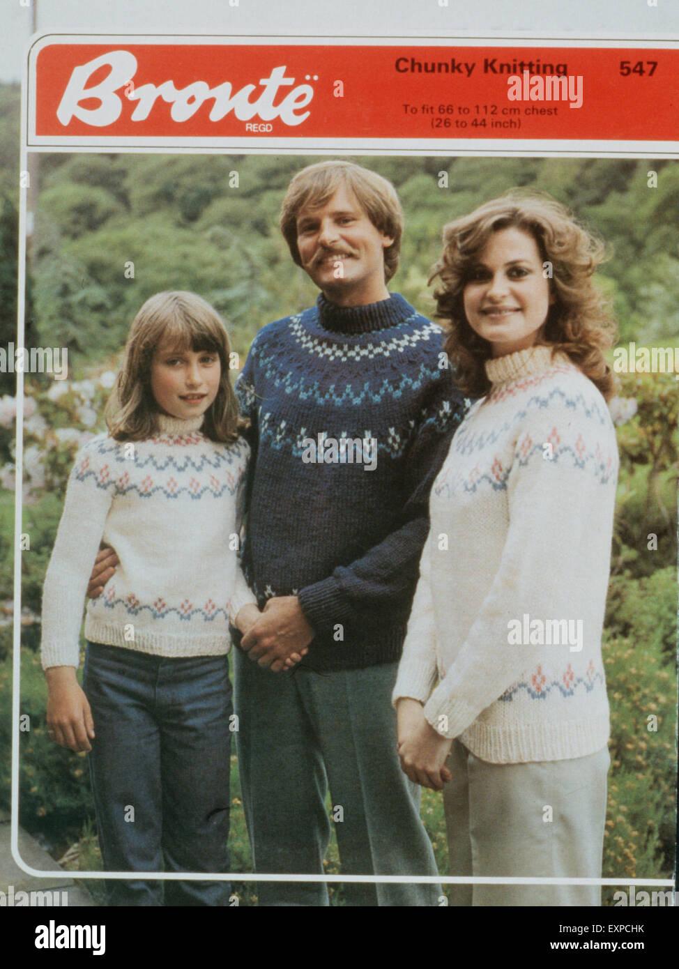 1970s UK Bronte Knitting Patterns Stock Photo: 85315375 - Alamy