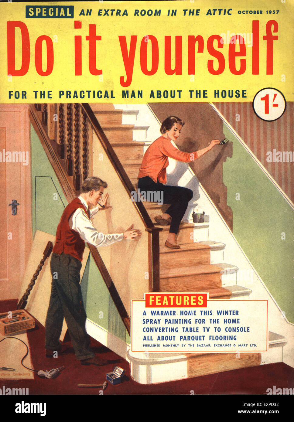 1950s uk do it yourself magazine cover stock photo 85315750 alamy 1950s uk do it yourself magazine cover solutioingenieria Gallery