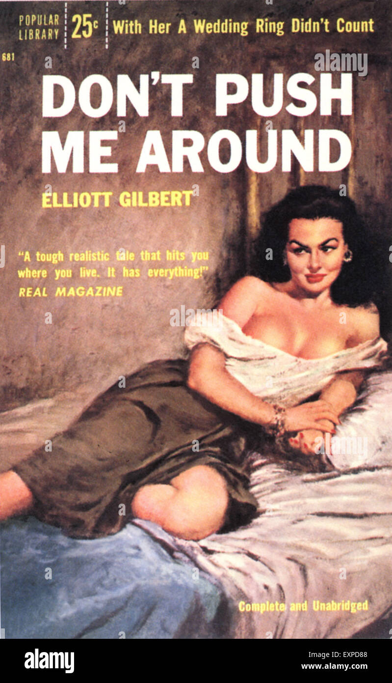 1950s USA Don't Push Me Around Book Cover - Stock Image