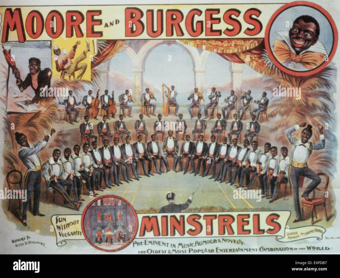 1900s USA Moore and Burgess Magazine Advert - Stock Image