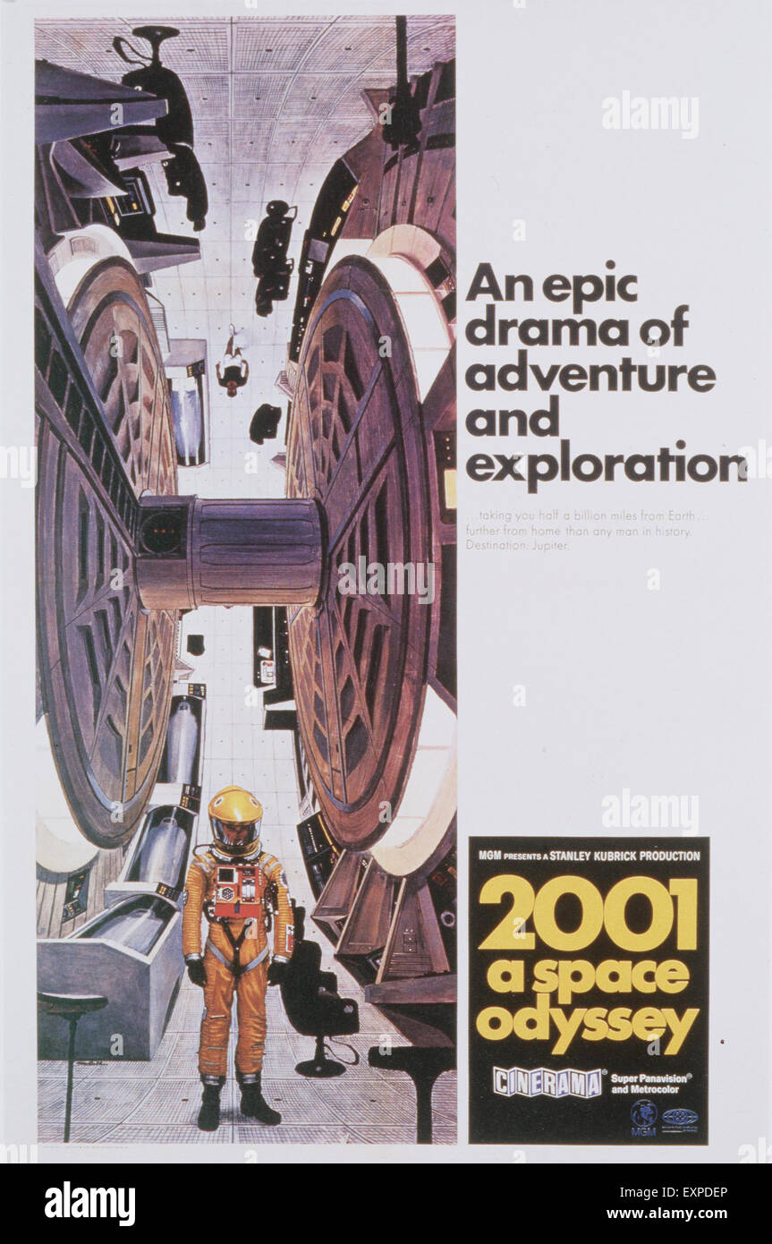 1960s UK A Space Odyssey Film Poster - Stock Image