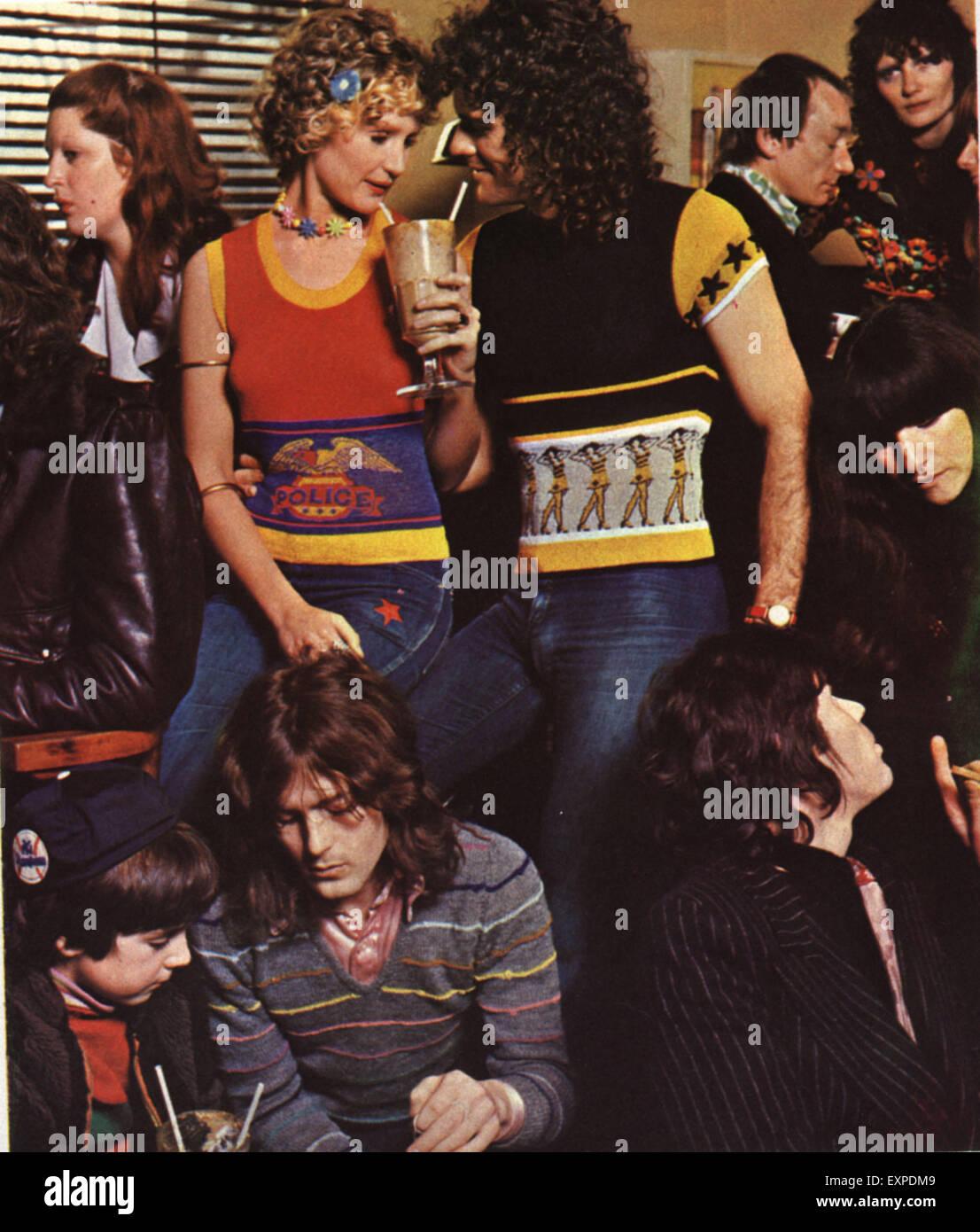 1970s UK Marshall Lester Magazine Advert (detail) - Stock Image