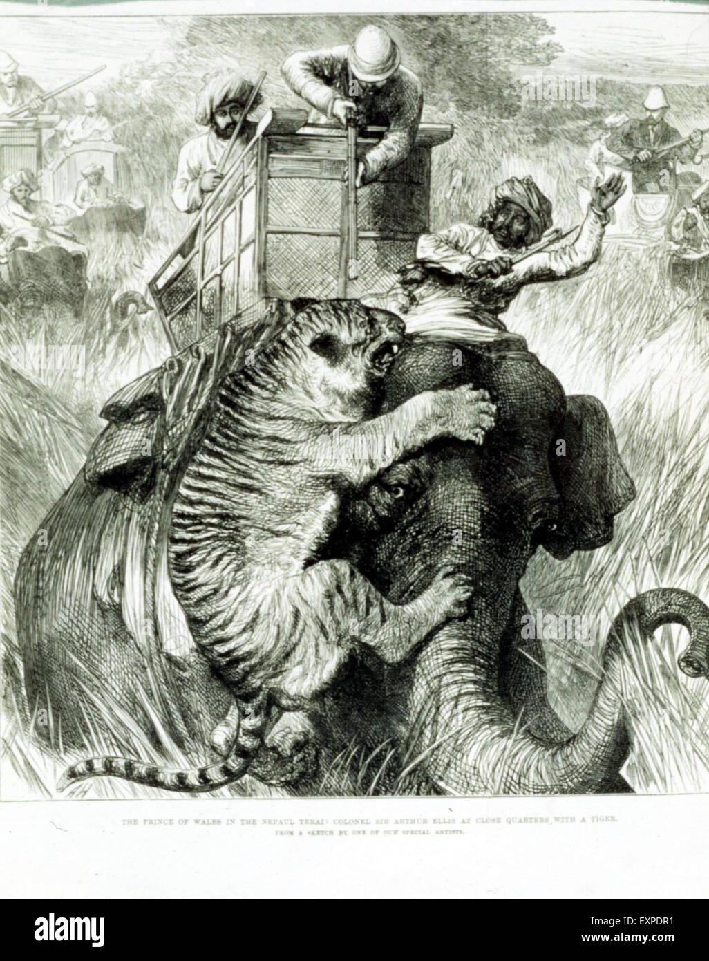 1890s UK British Empire Magazine Plate - Stock Image