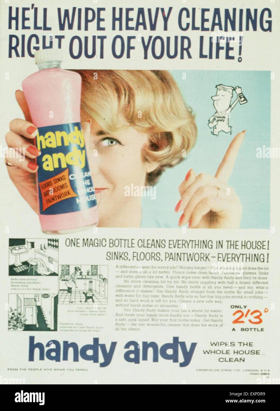 1960s UK Handy Andy Magazine Advert - Stock Image