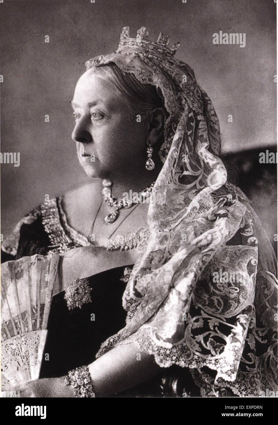 1890s UK Queen Victoria Magazine Plate - Stock Image